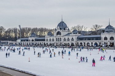 ICE AND HOT WATER, BUDAPEST, HUNGARY: Gliding alongside hundreds of other rugged-up folk in City Park's open-air ice ...