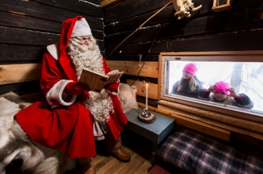 MEETING SANTA, LAPLAND, FINLAND: The cheery man with the big white beard lives in Lapland and as Christmas draws near ...