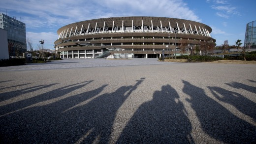 Th New National Stadium, the main stadium of Tokyo 2020 Olympics and Paralympics.