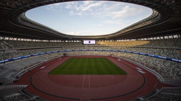 The New National Stadium, built for the Tokyo Olympics.