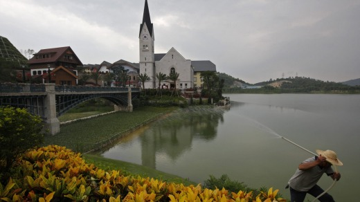 Then, in 2011, a Chinese mining tycoon spent $1.3 billion building a replica of the village in the southern Guangdong ...