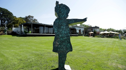 Sculpture at Montalto winery.