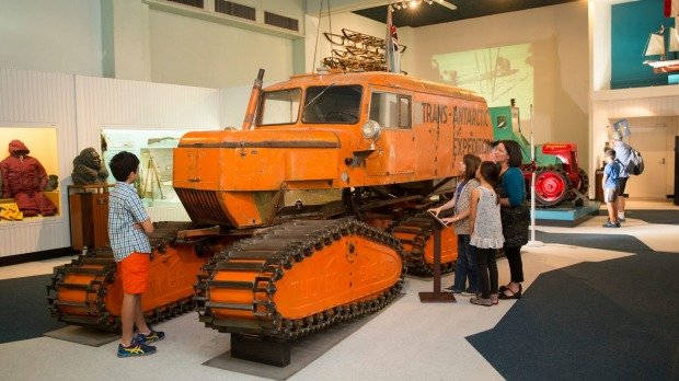 Antarctic exhibition on display at Canterbury Museum.