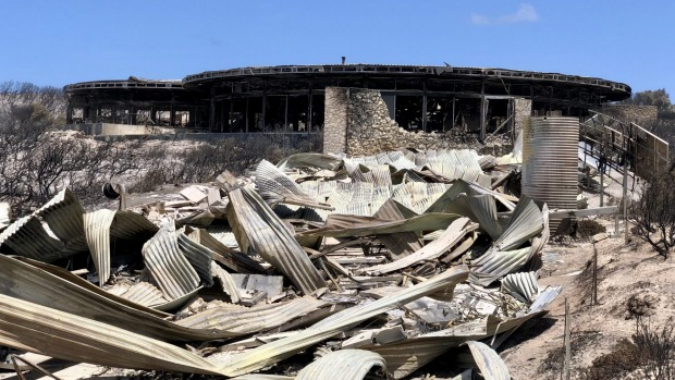 Southern Ocean Lodge's guest suites were razed in the Kangaroo Island bushfires of last summer.