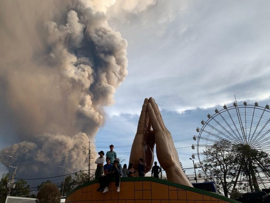 The drifting ash forced the cancellation of 172 flights in and out of the international airport on Sunday. General ...