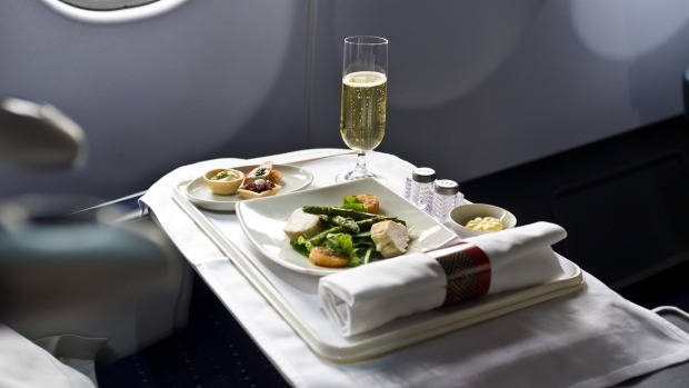 Business class meals on SAA.
