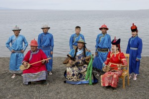 Throat singers in traditional dress.