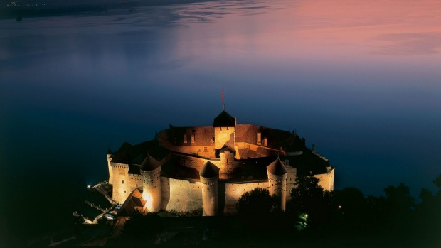 The Chateau de Chillon near Montreux on the shores of Lake Geneva dates back to more than a 1,000 years.
