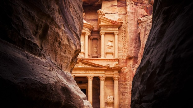 One of the most fascinating places to visit in the Middle East: The Treasury in Petra, Jordan.