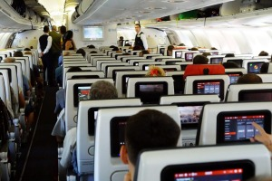 We'll never complain about flying long-haul in economy class again.