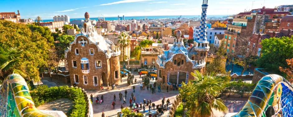 Park Guell in Barcelona, Spain. david whitley architects