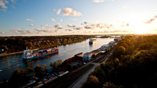 The picturesque Kiel canal.