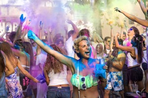 The Holi Garden Festival in San Antonio, Ibiza.