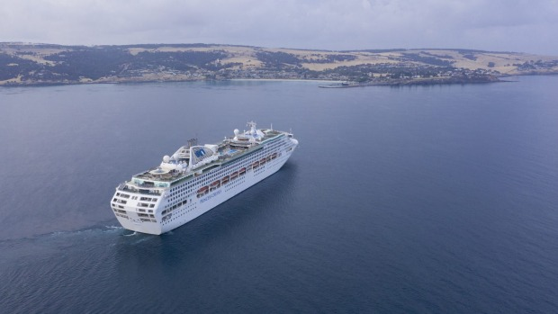 Sun Princess arrives at Kangaroo Island on Sunday.