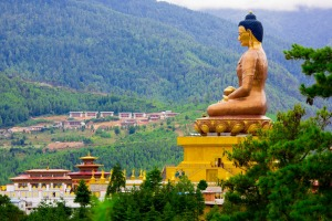 Great Buddha Dordenma is a gigantic Shakyamuni Buddha statue in the mountains of Bhutan.