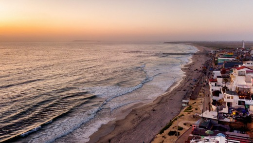 The Beach and Boardwalk, the border wall between Tijuana, Mexico, and the United States.
