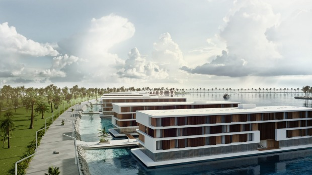 The 101-room hotels will be 72 metres long, 16 metres wide and each feature a restaurant and lounge bar.