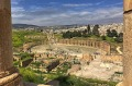 The Oval Plaza in Ancient Jerash.