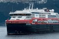 Hurtigruten's MS Fridtjof Nansen, with capacity for 530 passengers, is one of two ships chartered to house the cast and ...