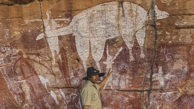 Magnificent Rock Art Gallery at Quinkan, Tropical North Queensland.