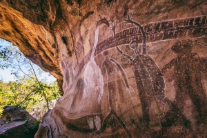 Quinkan rock art sites in Cape York.