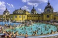 The famous Secheni Thermal Pools in Budapest, Hungary.