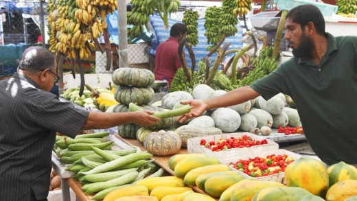 A market in the centre of Male.