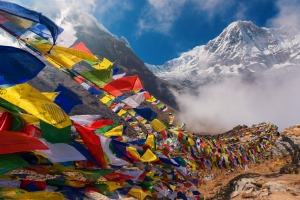 View of Mt. Annapurna from Annapurna Base Camp ,Nepal.