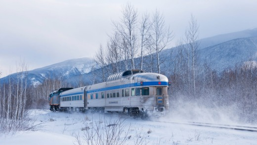 Canada's Via Rail takes travellers into the Rocky Mountains.