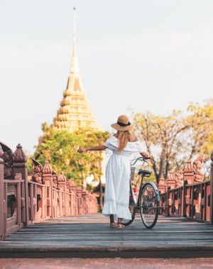 Exploring Thailand by bike.