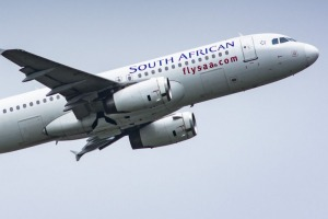 An Airbus A320-200 passenger jet, operated by South African Airlines (SAA), takes off from O.R. Tambo International ...