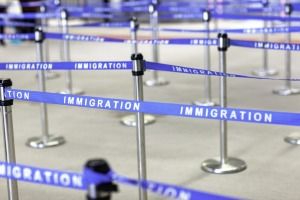 Immigration queues in the US have seen travellers waiting for as long as four hours.