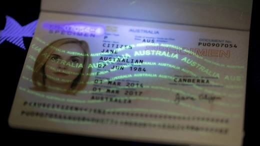 Australian passports are these days so sophisticated, it's believed to be pretty much impossible to forge them.