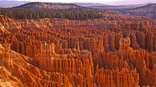 Bryce Canyon is a sprawling reserve with a collection of giant natural amphitheatres where the maze-like layering of ...