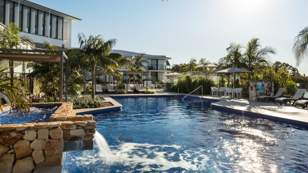 Outdoor pool at Sails Port Macquarie by Rydges.