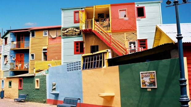Colourful streetscape in Buenos Aires.