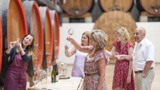Wine tasting in France with Insight Vacations.