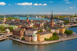 View of old town of Stockholm.