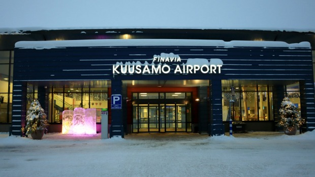 Kuusamo Airport has on security check point for domestic and international flights.