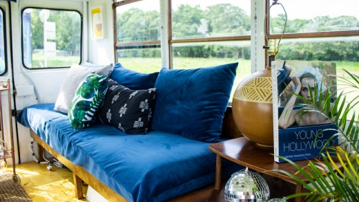 To The Moon, mobile vintage boutique (in a bus) has passed through cities including Austin and Dallas.