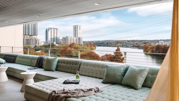 P6 rooftop bar at The Line hotel in Austin.