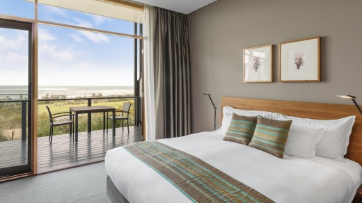 The rooms make the most of the location, with floor-to-ceiling windows offering panoramic views of the ocean and across ...