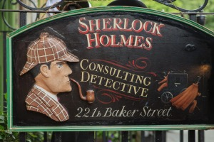 The Sherlock Holmes museum is located on Baker Street and is dedicated to the fictional detective Sherlock Holmes.