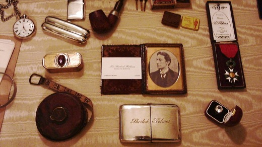 Exhibits at the Sherlock Holmes Museum.