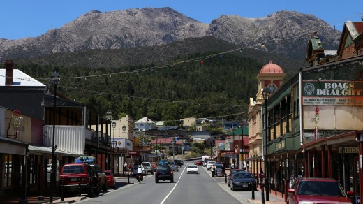 Queenstown is the largest town on Tasmania's west coast.