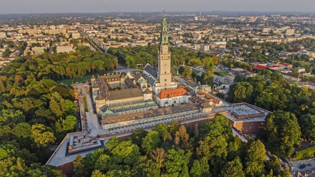 Jasna Gora Monastery near Czestochowa is Poland's national shrine and has been a pilgrim destination since the Middle Ages.