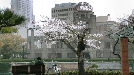 The UNESCO World Heritage-listed ruins of the Atomic Bomb Dome, originally the Hiroshima Prefectural Industrial ...