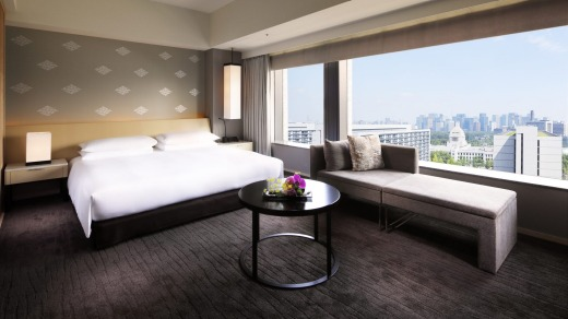 Unusually for Tokyo, the hotel's rooms, with the smallest at nearly 45 square metres, are extremely spacious.
