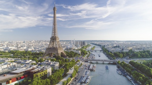 Paris and the Eiffel Tower.