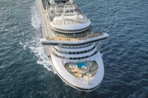 Sapphire Princess in Singapore Supplied PR image for Traveller. Sapphire Princess cruise ship